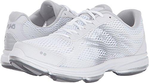 Ryka Studio - Ryka Women's Devotion Plus 2 Walking Shoe, White/Blue, 8.5 W US