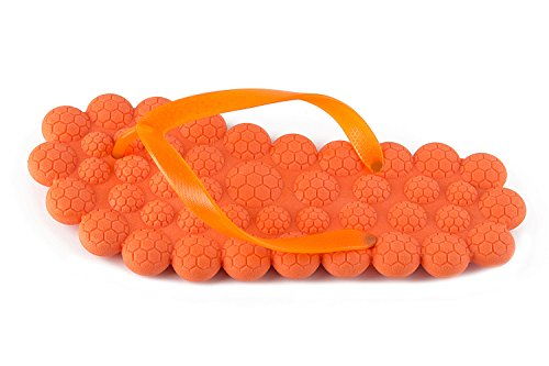 CapriccioSu Womens Flip Flops Non-Slip Flat Massage Thong Spa Slippers House Indoor Shoes Orange HoU159RKo