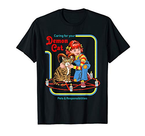 Funny-Caring-for-your-Demon-Cat-t-shirt pet