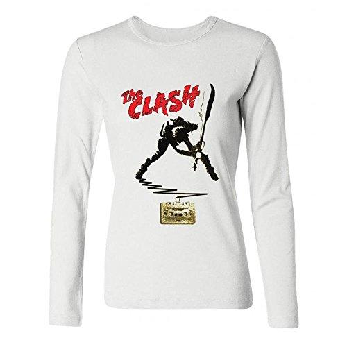 SUNRAIN Women's Custom The Clash Band Poster Long Sleeve T Shirt ()