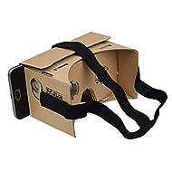 Sharkk Goggle Cardbroad Masque Realité Virtuelle 3D Casque pour Android et iPhone – 1 pack Bullets: