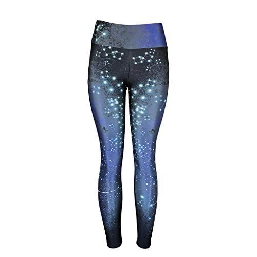 BBZUI Women's Basic Cotton Stretch Leggings High Waist Ultra Soft Brushed with Pocket Fashion 2019 (Blue, L)