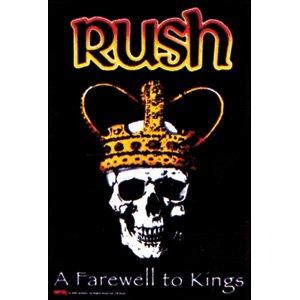 Rush Farewell to Kings Fabric Poster