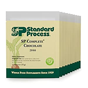 Standard Process - SP Complete Chocolate - Whole Food Nutritional Supplement, Protein, Calcium, Antioxidant Activity, Gluten Free and Vegetarian - 10 Pouch Pack (1.1-oz. Packets)