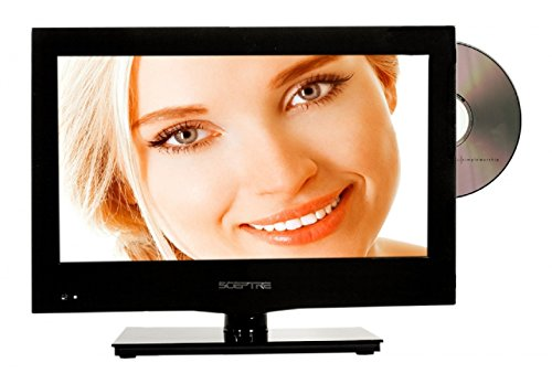 "SCEPTRE E165BD-S 16"" Class HD 720P LED TV with Built-in DVD"