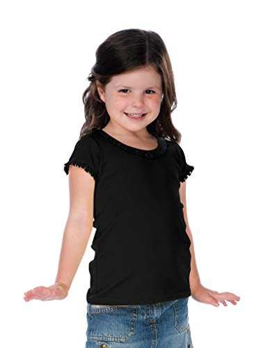 (Kavio! Little Girls 3-6X Sunflower Short Sleeve Top Black 5/6)