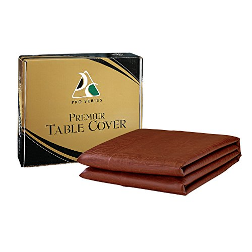 Premier Table Cover - Pro Series TC7B Premier Leatherette Pool Table Cover, Brown, 7-Feet