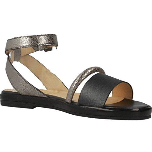 GEOX Sandalias y chanclas para mujer, color Plateado, marca, modelo Sandalias Y Chanclas Para Mujer D KOLLEEN Plateado