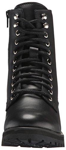 Women's Black Leather Combat Geneva Boot Steve Madden RH54Oq56
