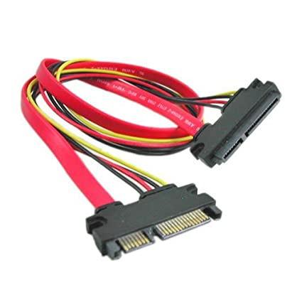 Amazon 22 Pin 7 15 SATA Male To Female DATA And Power Combo Extension Cable