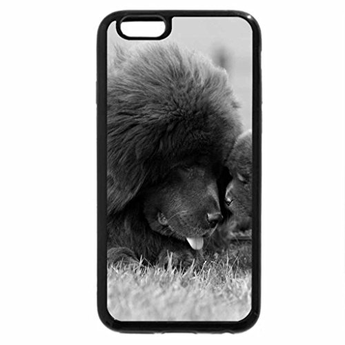 iPhone 6S Plus Case, iPhone 6 Plus Case (Black & White) - mom and daughter