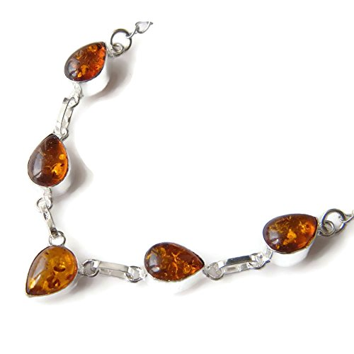 Surbhi Crafts Amber Necklace, Silver Plated Chain Necklace, Women Necklace, Brass Necklace AH-6320
