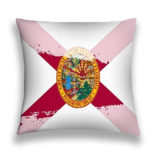 YILINGER Retro Cotton Linen Square Vintage Throw Pillow Case Shell Decorative Cushion Cover Pillowcase, 18