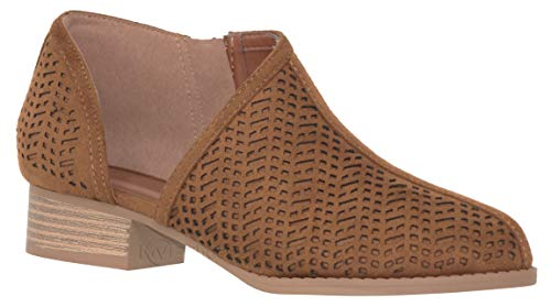 MVE Shoes Women's Trendy Ankle Booties - Stylish Cutout with Side Zipper, Decade Cnut 6.5