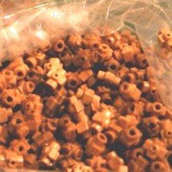 Holy Land Market 12x8x8 mm Jerusalem Cross Shaped Bethlehem Olive Wood Beads (60 Beads)