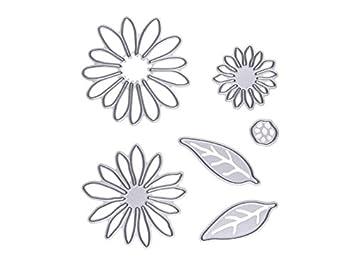 Moldes de chocolate 6 piezas de acero al carbono de flor y hojas de plantillas de ...