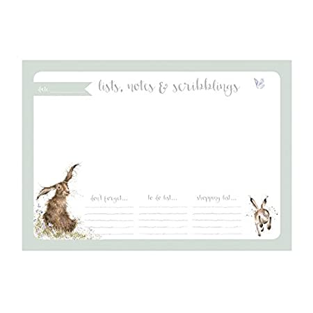 Wrendale Designs A4 Desk Planner Hare Design Amazon Co Uk