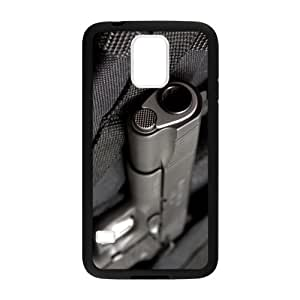 Samsung Galaxy S5 SV Case Cover - Weapons Guns Handgun Samsung Galaxy S5 SV TPU (Laser Technology) Case Rubber Sides Shell