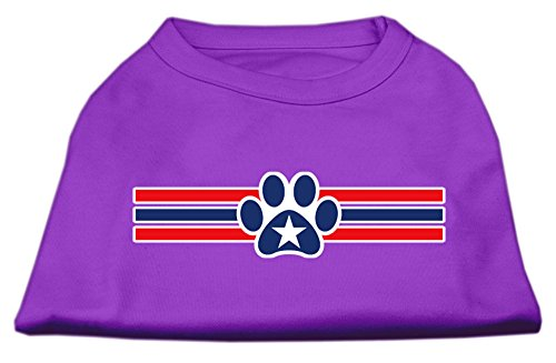 Mirage Pet Animal Gift Apparel Poly Cotton Sleeveless 20'' Patriotic Star Paw Screen Print Shirt Purple XXXL by MiragePet (Image #3)