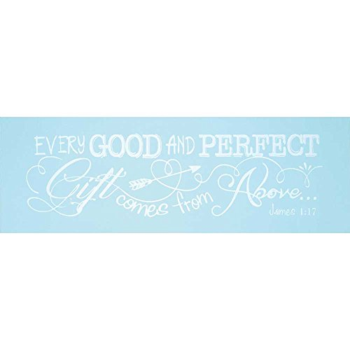 Dicksons Baby Boy Wall Plaque, Every Good and Perfect Gift James 1:17/Blue by Dicksons (Image #1)