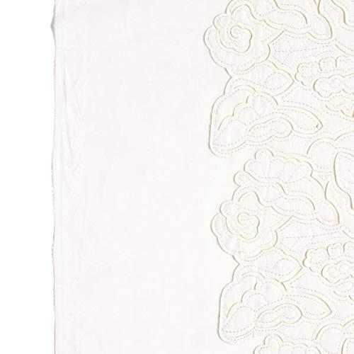 und Partymode und Brautmode Fabulous Fabrics Kunstleder Mesh Rosen Weiss /— Meterware ab 0,5m /— zum N/ähen von Abend