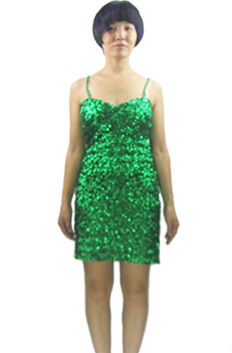 - Whitewed Sparkly Glitter Sequin Dress Cocktail Bachelorette Party Juniors,Green,Free