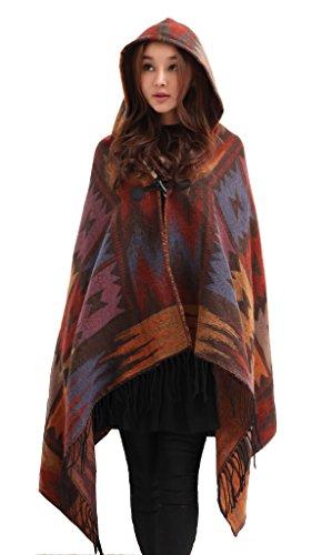 樫の木階層報いるcolorfinoレディース用冬カーディガンBatwingジャケットフード付きスタイリッシュゆったりコート