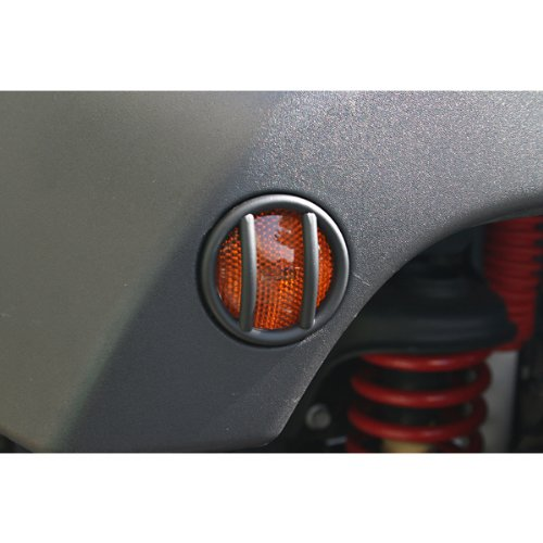 Rugged Ridge 11231.12 Black Euro Guard and Side Flare Light Guard - Pair