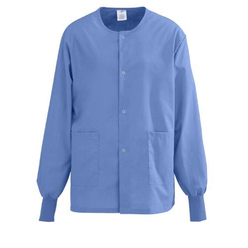 Medline PerforMAX Snap-Front Warm-Up Scrub Jacket, Small, Ceil - Womens Medline Jacket
