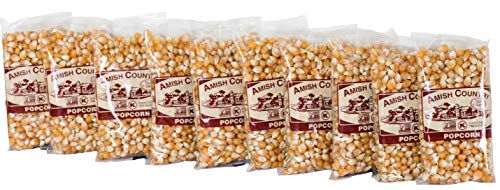 Amish Country Popcorn Extra Large Caramel (4 Ounce - 10 Pack) Gift Set -Old Fashioned, Non GMO, Gluten Free, Microwaveable, Stovetop and Air Popper Friendly with Recipe Guide