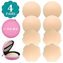 Why choose them? Easy to wear and remove,appears seamless and natural. They are hypoallergenic, reusable and easy to clean in warm water with soap. They can be applied at any time and occasions,such as when wear back-revealing dresses, tight...