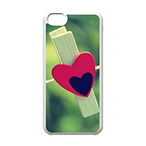 Love Clothespin Case For iPhone 5C White