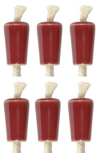 Wine Bottle Candle, Ceramic - Burgundy, Set of -