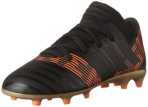 adidas Performance Boys' Nemeziz 17.3 FG J, Core Black/Core Black/Solar Red, 6 M US Big Kid