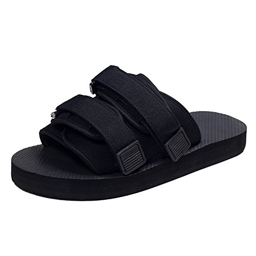 Sandals MAZHONG Summer Male Cool Couple Flat with Non-slip Off-road Beach Shoe (Color : Black-EU41/UK7.5-8/CN42) Black-eu40/Uk7/Cn41 eJ3ek3