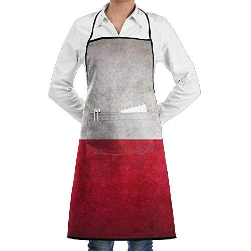 SARA NELL Grill Aprons Kitchen Chef Bib Poland Flag Kitchen