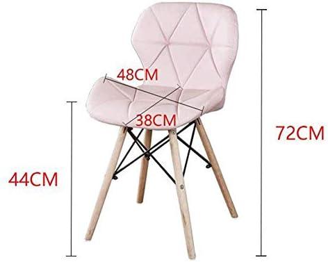 N / A Tabouret de Bar Tabouret Cuir Chaise Haute élastique Chaise en Bois Massif Simple créatif Coussin PU (Couleur: Rouge)