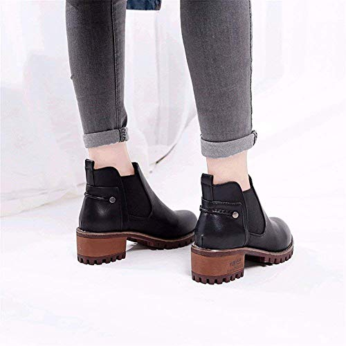 Table Donna Waterproof 's Sed Heel Head Autumn Shoes 39 Round Eu Winter Da Scarpe Boots And FHFq8xS