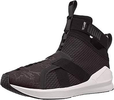 PUMA Women's Fierce Strap WN's Cross-Trainer Shoe, Puma Black-Puma White, 7.5 M US