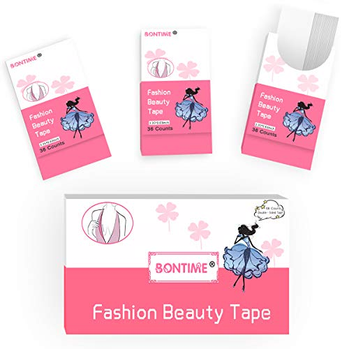 (Fashion Beauty Tape - BONTIME Medical-Grade Quality Double Sided Beauty Tape for Fashion and Body (108 Strips))