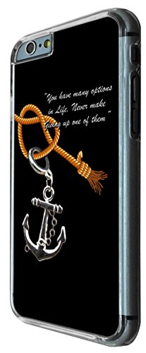 907 - Anchor Quote Design iphone 6 6S 4.7'' Coque Fashion Trend Case Coque Protection Cover plastique et métal