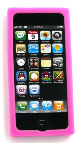 Emartbuy® Apple Iphone 5 5s Retro Cassette Silicon Skin / Schutzhülle / Case Rosa