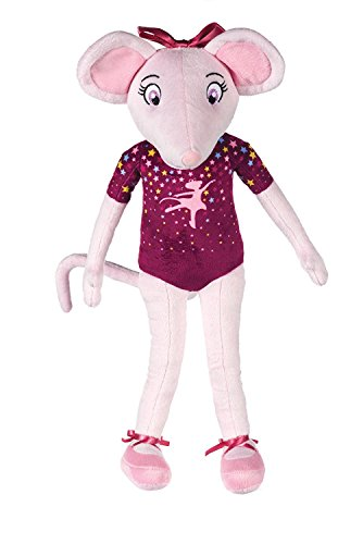 Whitehouse Leisure 16 Inches Tall Angelina Ballerina Soft Toy Dressed In Purple (k29)