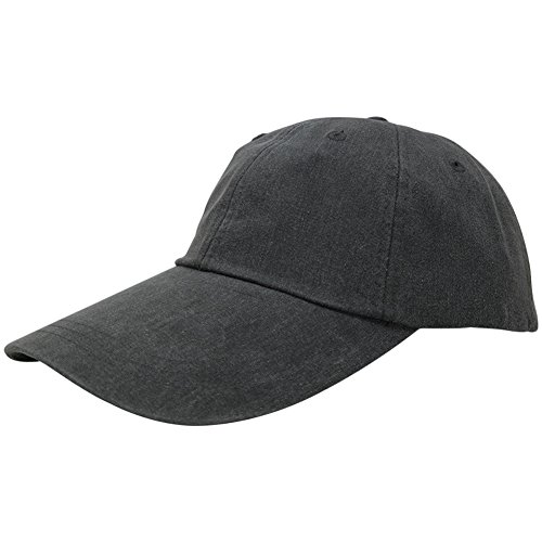 Sunbuster Extra Long Bill 100% Washed Cotton Cap with Leather Adjustable Strap