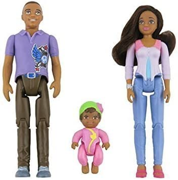 Fisher Price Loving Family African American Mom Dad and Baby