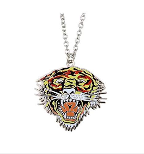 Open Mouth Tiger Necklace ()