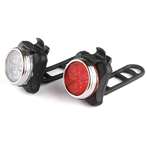 GaGa MILANO Rechargeable LED Bike Lights Set - Headlight Taillight Combinations Front & Rear LED Bicycle Light Set