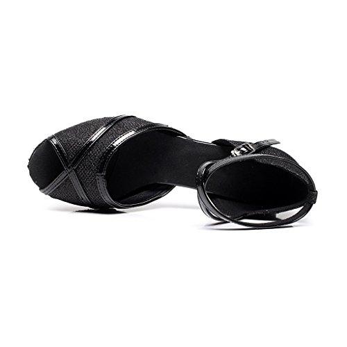 misu , Damen Tanzschuhe schwarz schwarz Schwarz
