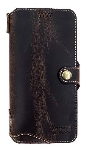 Yogurt for Motorola Moto Z4 Genuine Leather Wallet Cases Cover Handmade Oil Leather