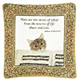 Alice's Cottage - Single Spiced Mug Mat - Music & Cats